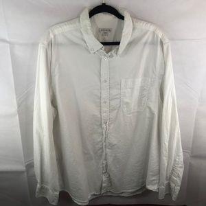 George Mens Button Down Dress Shirt Sz 2XL 50-52